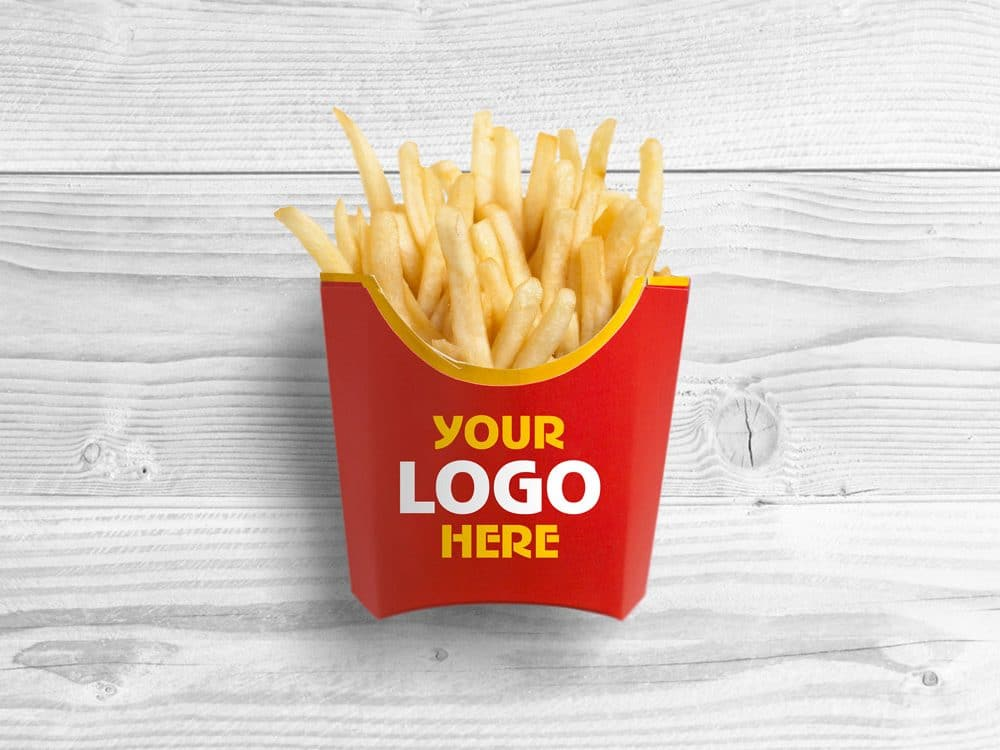 Delicious French Fries Free Mockup