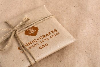 Vintage Gift Wrapping Mockups Freebie