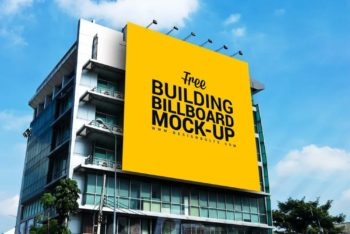 Huge Outdoor Building Billboard Mockup Freebie