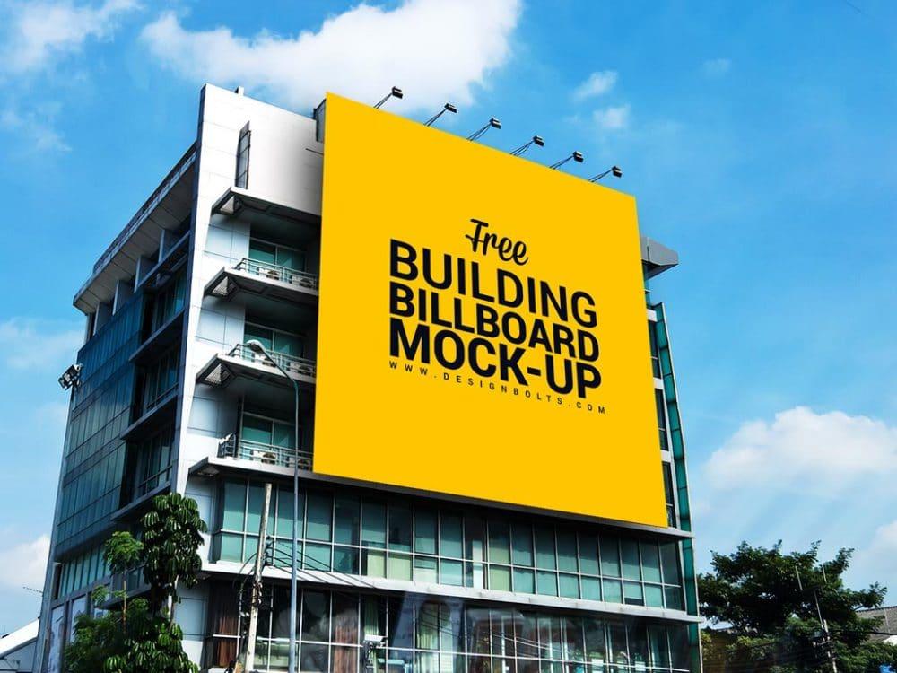 Huge Outdoor Building Billboard Mockup Freebie Designhooks