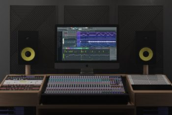 iMac Pro Plus Sound Studio Mockup Freebie