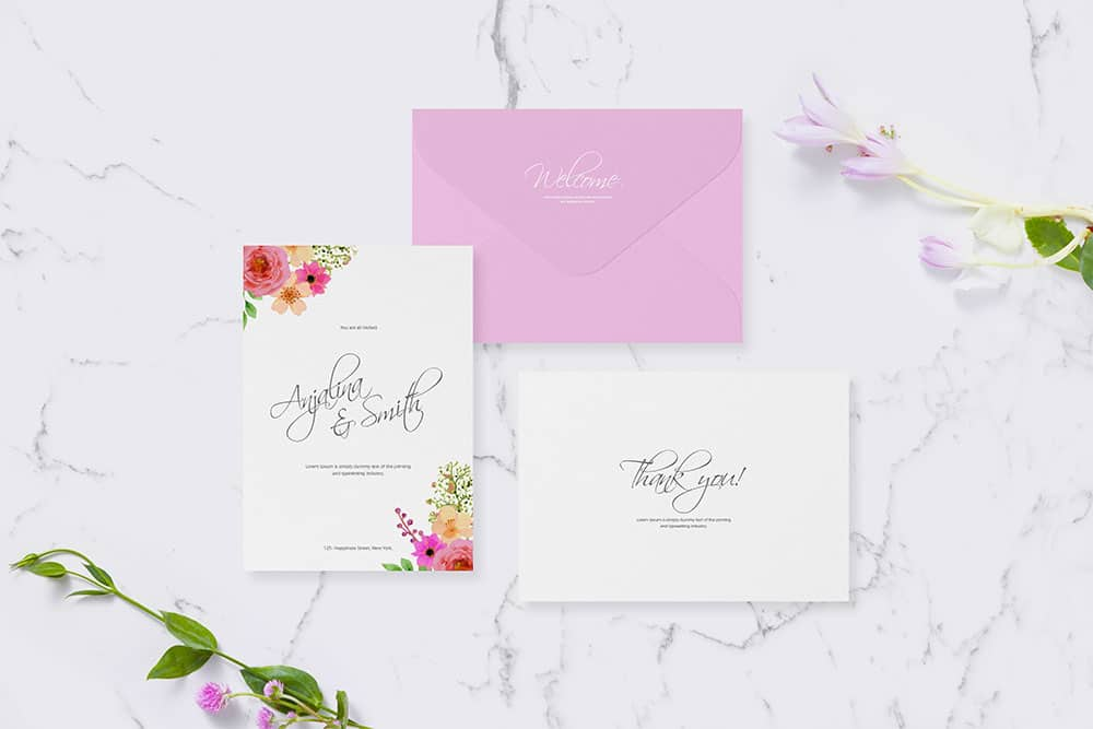 Download this free invitation card mockup designhooks free invitation card mockup for wedding greetings stopboris Image collections