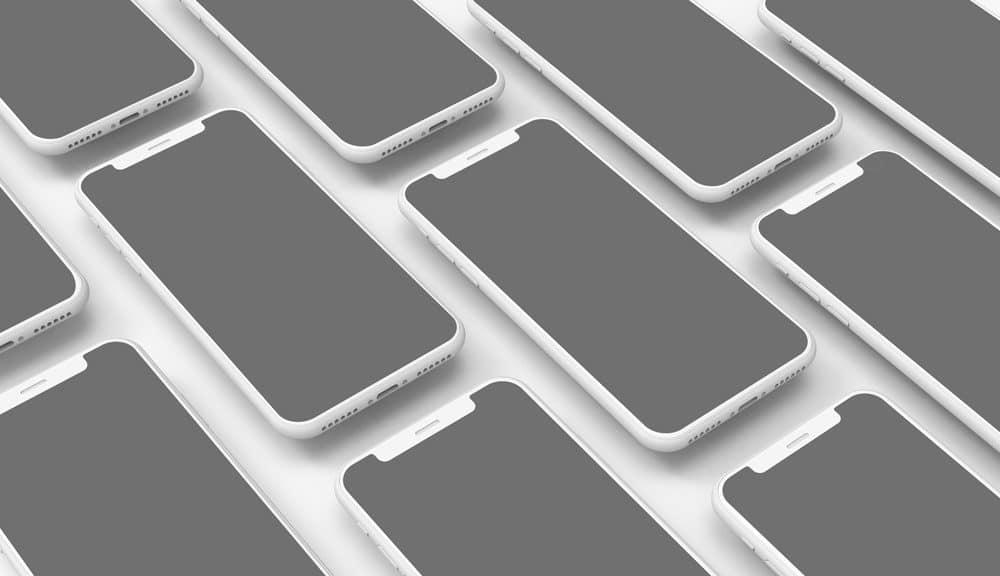 Mobile Application Design iPhone X Showcase Mockup