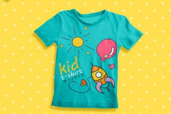 Free Kids T-shirt Mockup for Kids Brands