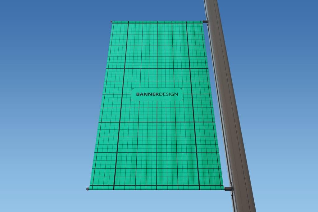 lamp post banner free mockup set