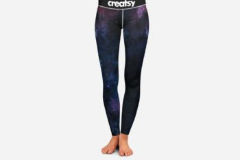 Galaxy Design Leggings Free Mockup