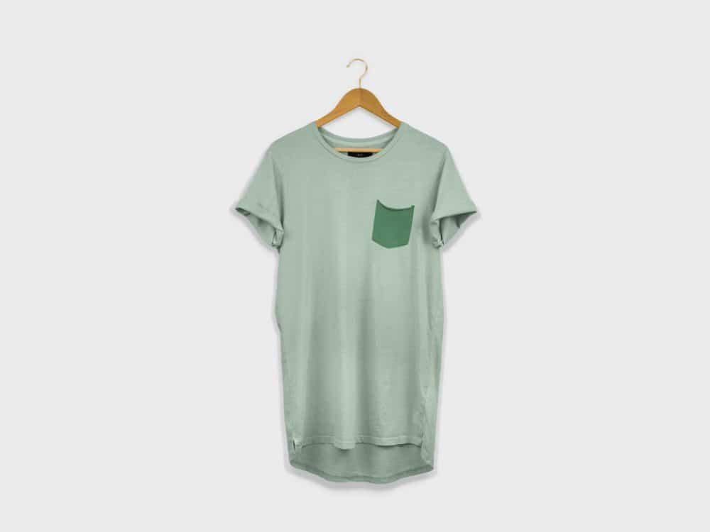 Longline T-Shirt on a Hanger Mockup