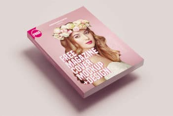 Captivating Free Magazine Cover Mockup in PSD