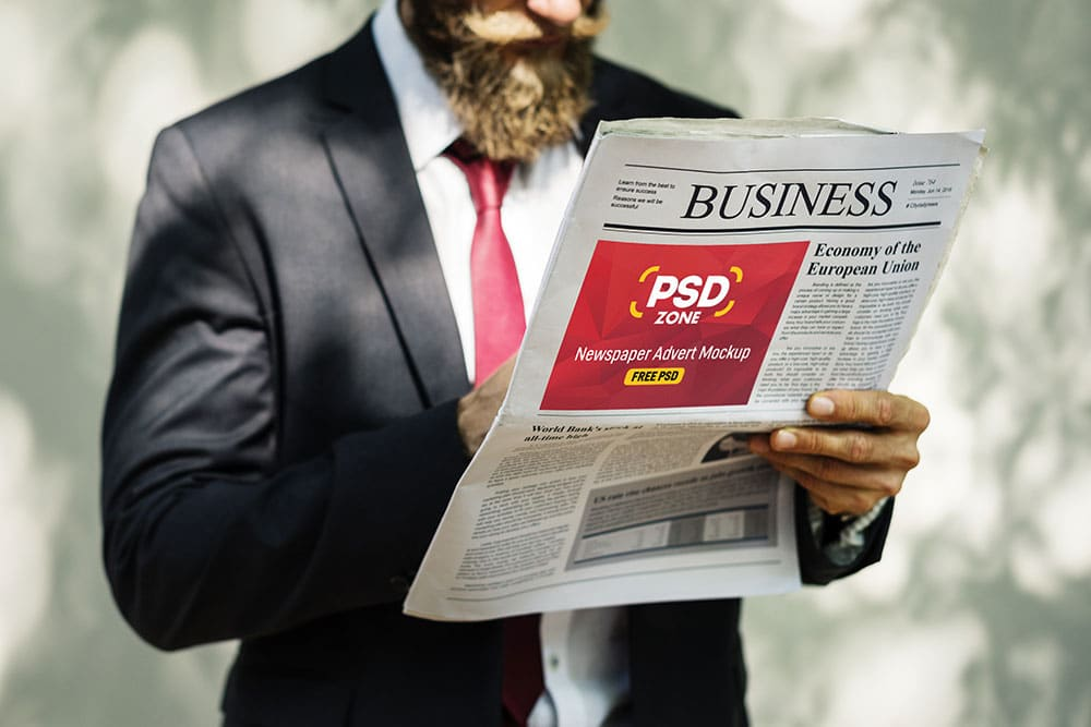 free newspaper advertisement mockup