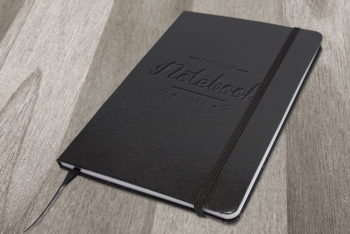 Elegant Dark Free Notebook Mockup
