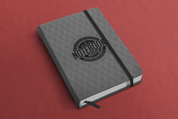 Free Classy Notebook Mockup in PSD