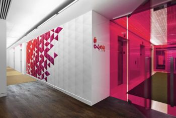 Free Customizable Office Floor Wall Mockup