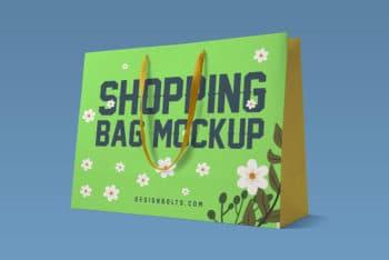 Free Paper Shopping Bag Mockup in PSD