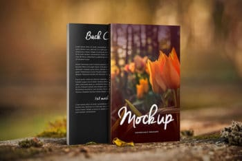 Nature Things Free Paperback Book PSD Mockup