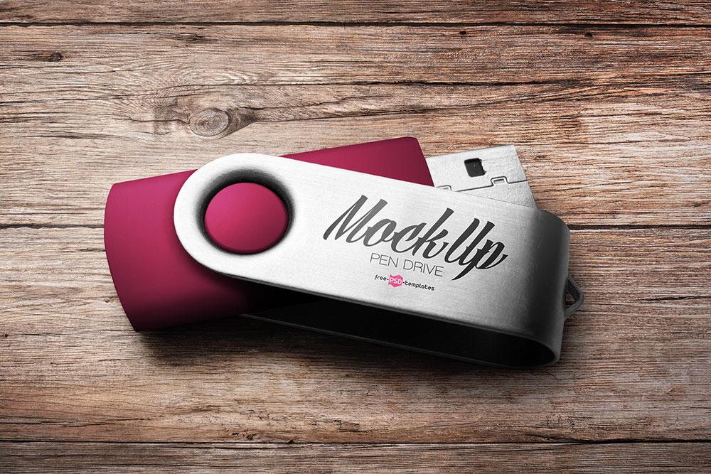 free pen drive mockup