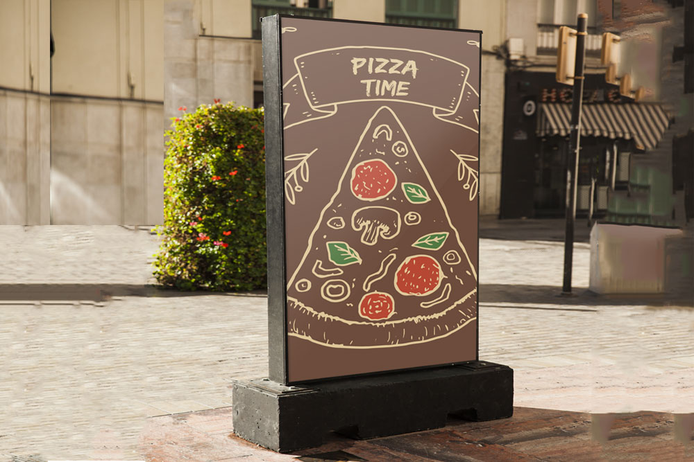 free pizza billboard mockup