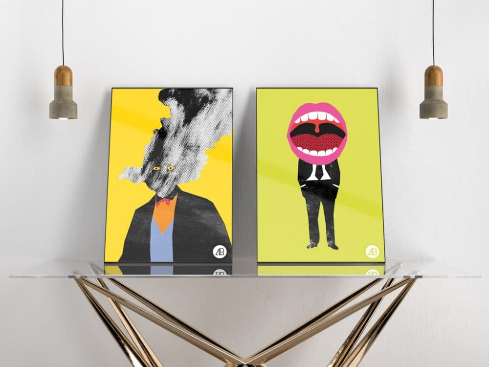 poster showcasing free mockup