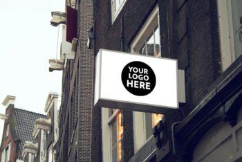 Free Customizable Shop Signs Mockup Bundle