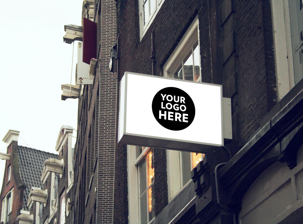 Shop Signs Mockup