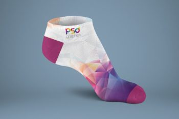 Free Customizable Colorful Sock Mockup