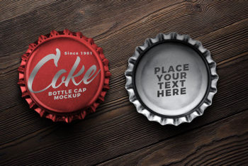 Free Soft Drink Bottle Cap Mockup