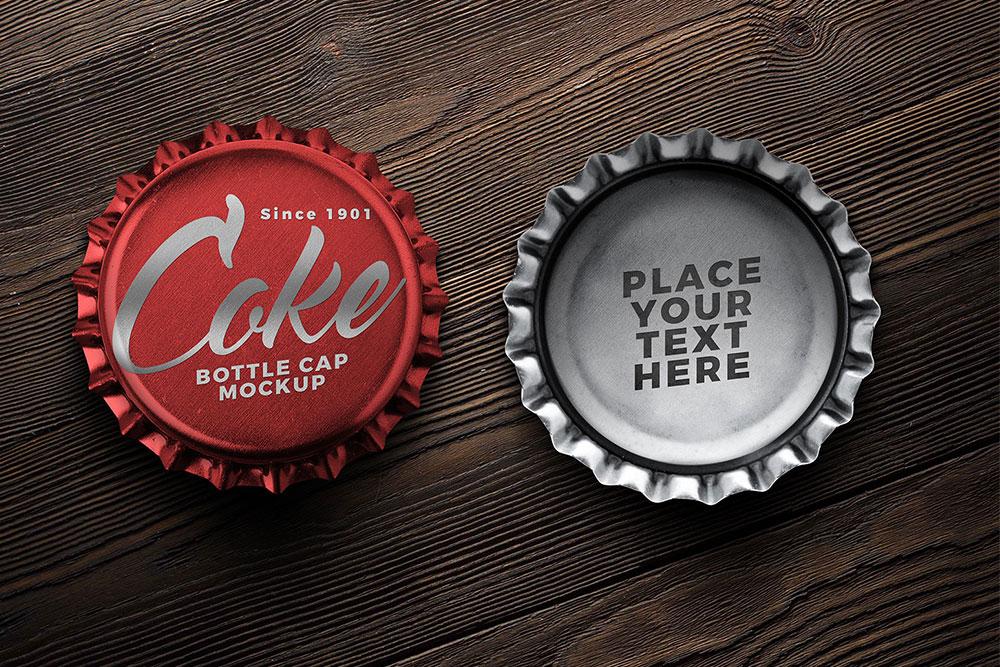 free soft drink bottle cap mockup