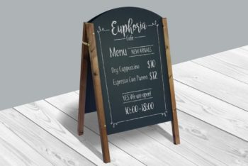Restaurant Menu Board Mockup Freebie