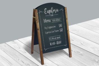 Restaurant Menu Board Mockup Freebie