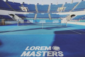 Free Tennis Court Branding Mockup