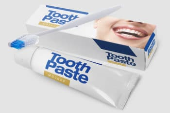 Exhibit Your Brand with this Free Toothpaste Mockup