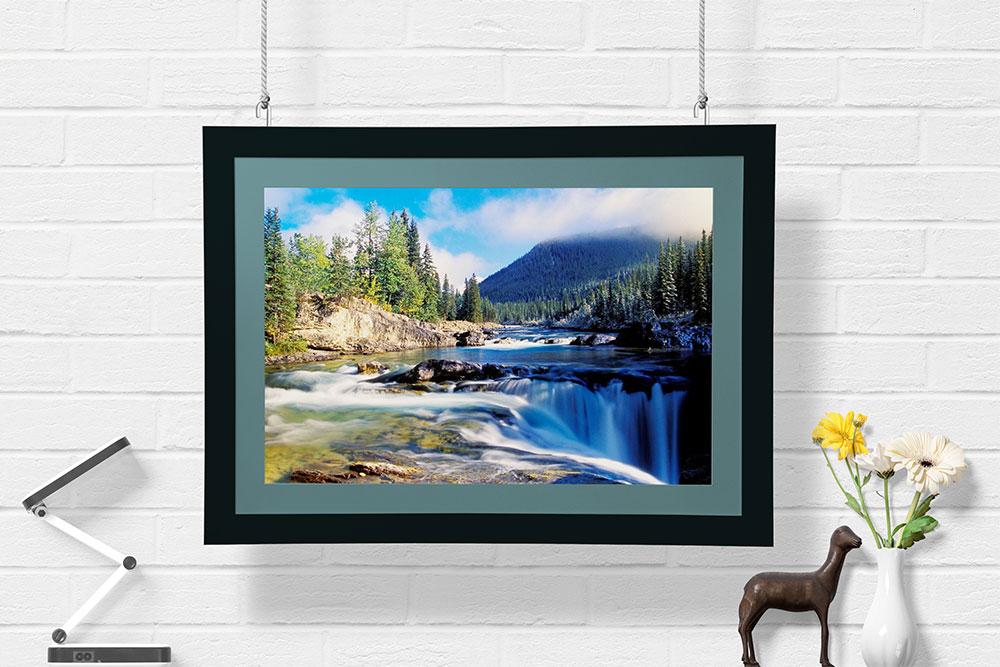 free wall frame mockup