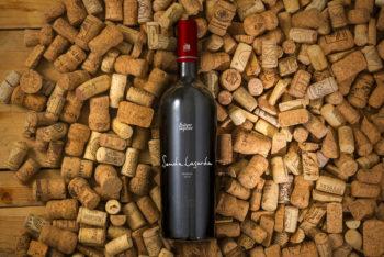 Wine Bottle Plus Corks Mockup Freebie