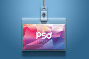 Excellent ID Card Mockup in PSD