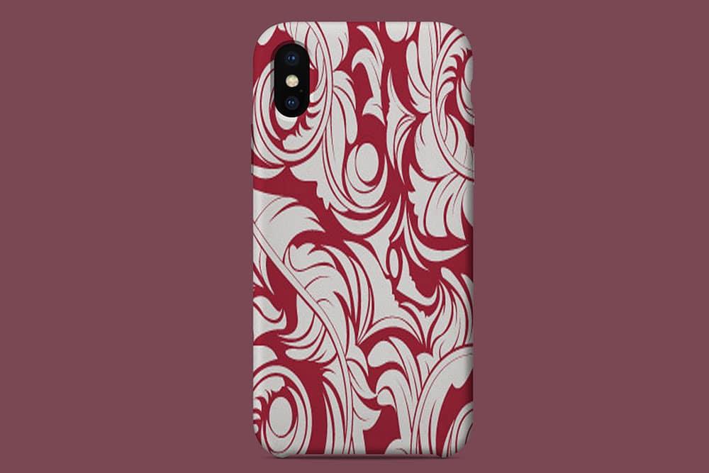 iphone x silicon case mockup