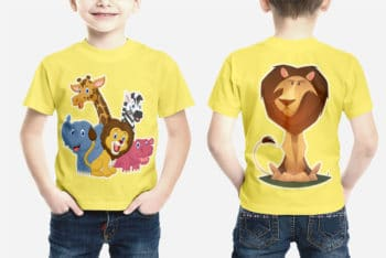 Create Adorable Shirts With This Kids Shirt Mockup