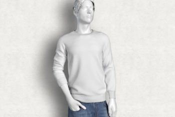 Free Male Mannequin Plus T-Shirt Mockup