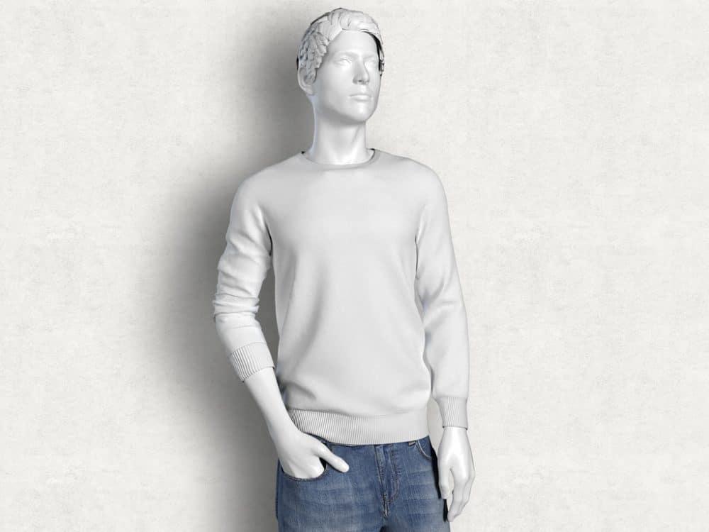 Male Mannequin Plus T-Shirt