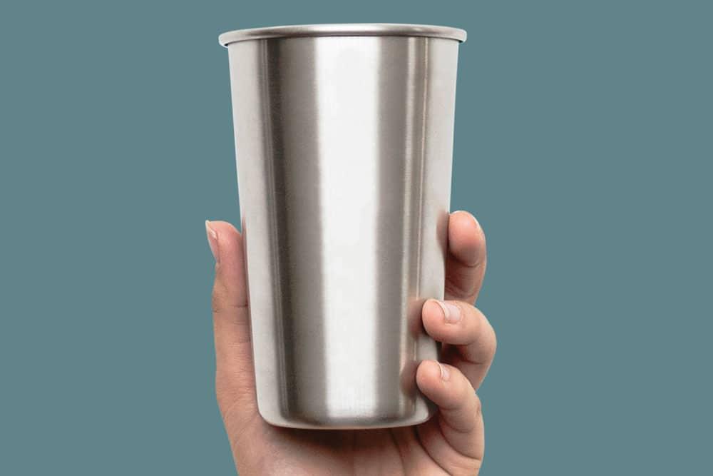 metal cup mockup