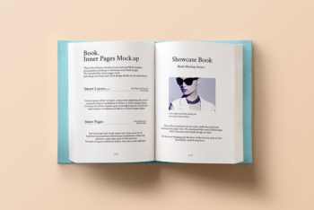 Open Hardcover Book Mockup Freebie