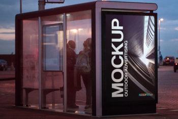 Outdoor Advertising 2 Free PSD Mockups.