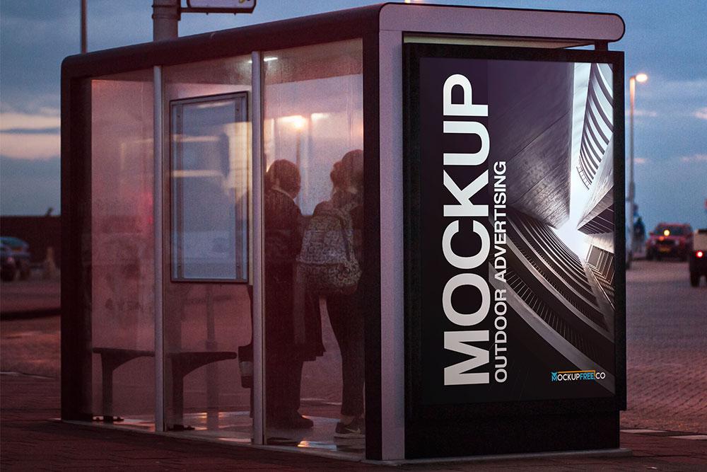 Outdoor Advertising 2 Free PSD Mockups