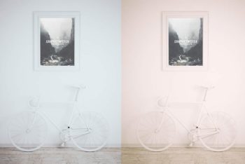 Framed Picture Plus Bike Mockup Freebie