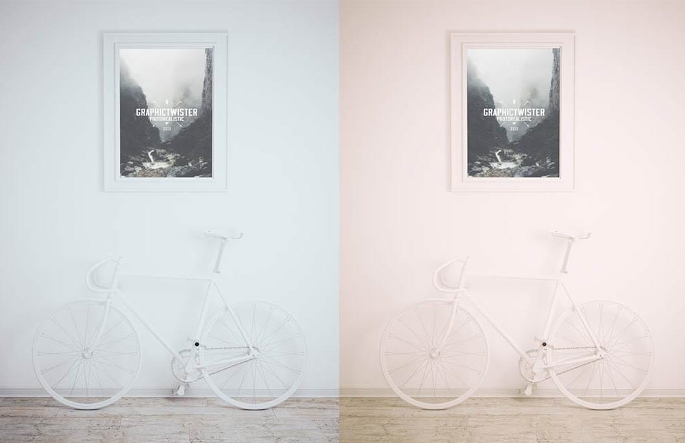 Framed Picture Plus Bike