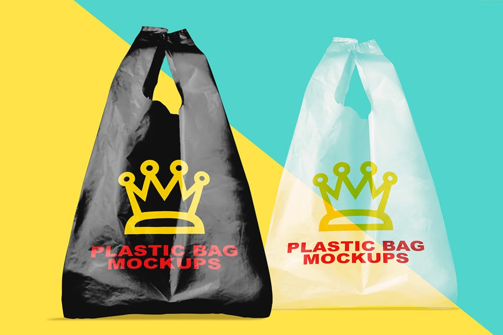 Free Download Plastic Bag Mockups For Your Next Packaging