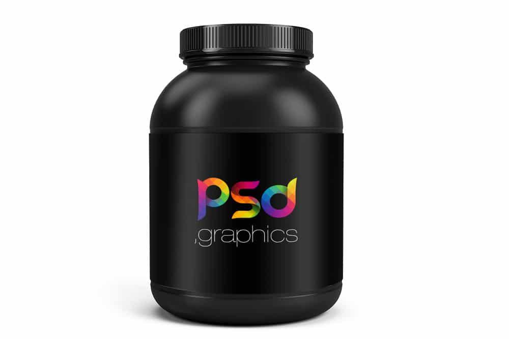 Protein Jar PSD Mockup