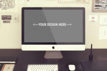 Vintage iMac Desk Mockup Freebie