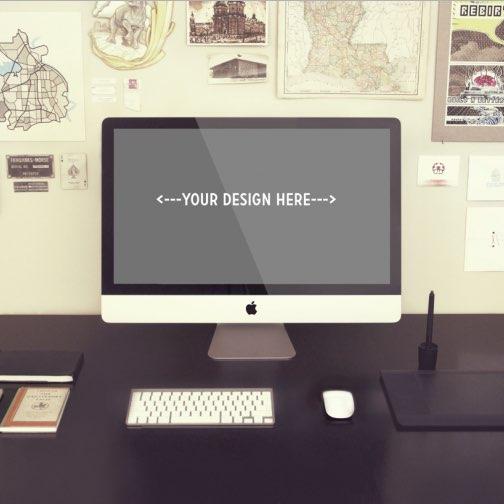 Vintage iMac Desk