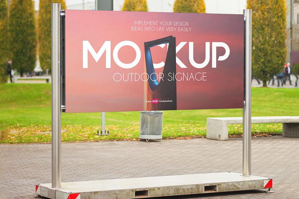 roadside outdoor advertising mockup
