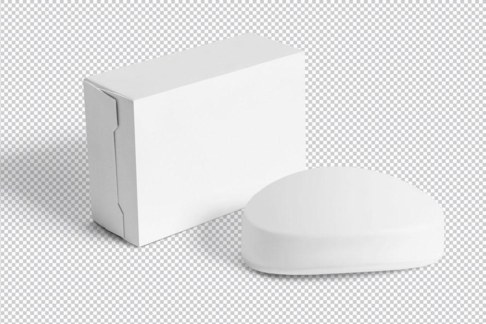 soap and packaging box mockup