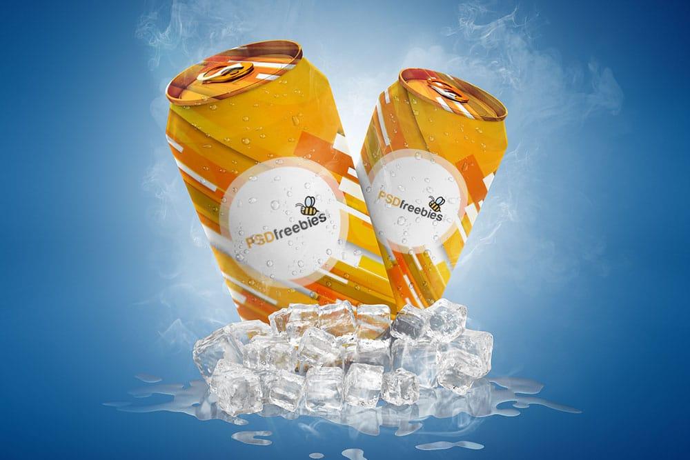Soda Can PSD Mockup